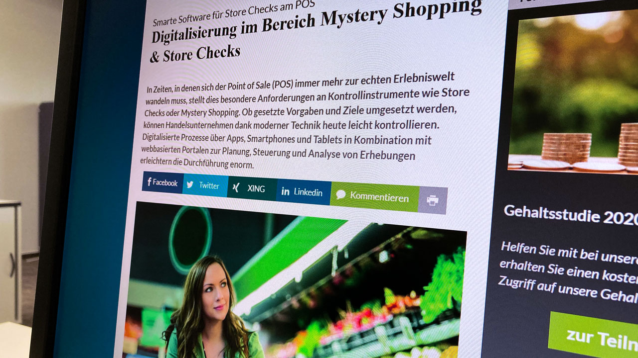 Fachartikel über digitalisierte Store Checks
